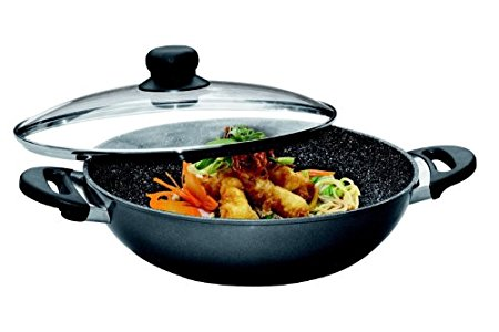 453ca07195 FunkyBuys ® Classic Non Stick Stir Fry 26cm/28cm/30cm/33cm Wok-Style Chef  Pan Saute Pan With Glass Lid – purchased this wok 8 months ago and am very  happy ...